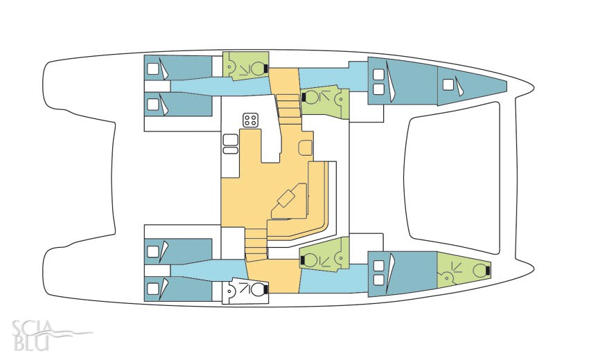 Catana 50 oc, layout (vers. 2008)
