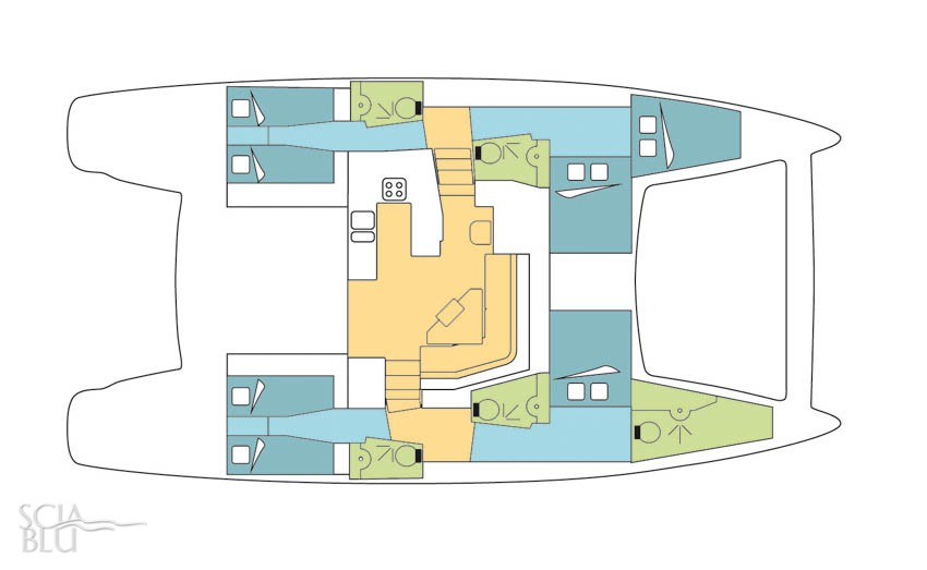 Catana 50 oc, layout (vers. 2009)